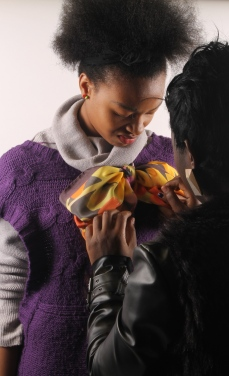 Sunflower Scarf - Naomi and Laetitia