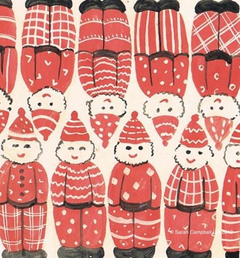Smiling Santas