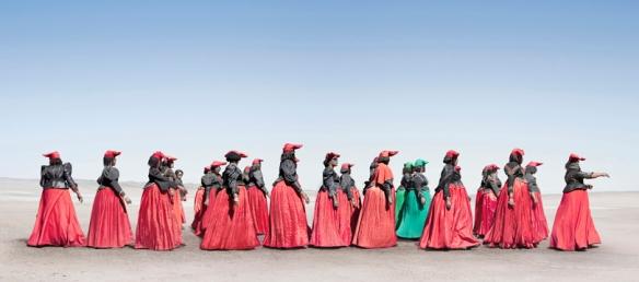 Herero woman marching