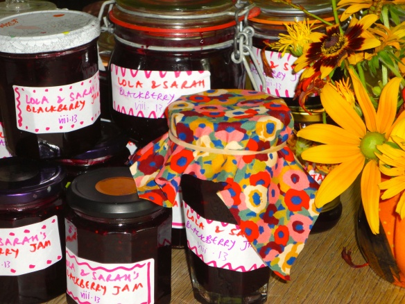 jam and flowers