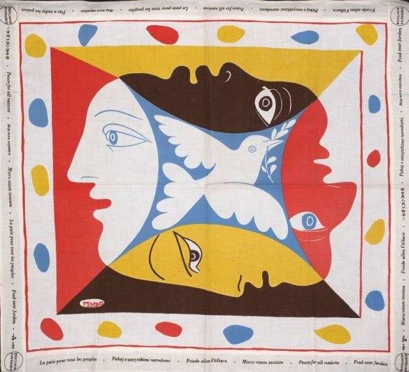 Picasso Peace Dove Scarf