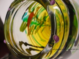 finished glass close up