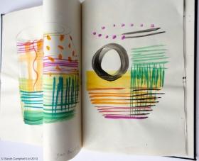 glass sketchbook