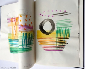 glass sketchbook