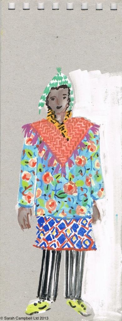 patterned lady