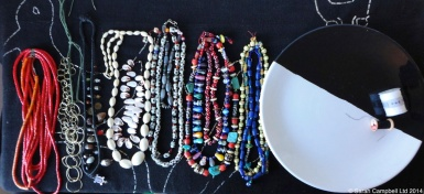 necklaces and plate