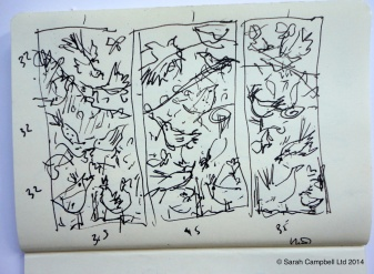 bird initial sketch