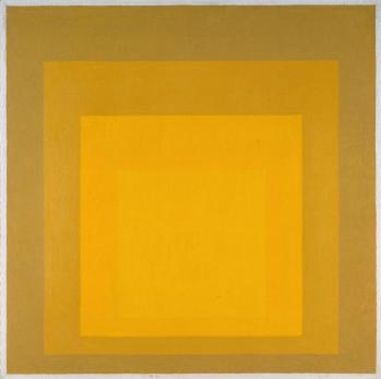 Josef Albers 'Departing in Yellow'