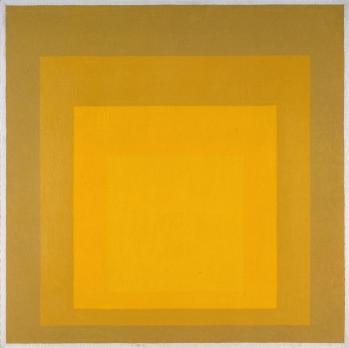 Josef Albers 'Departing in Yellow'