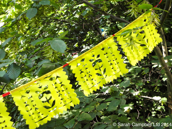 picado paper cutting in trees
