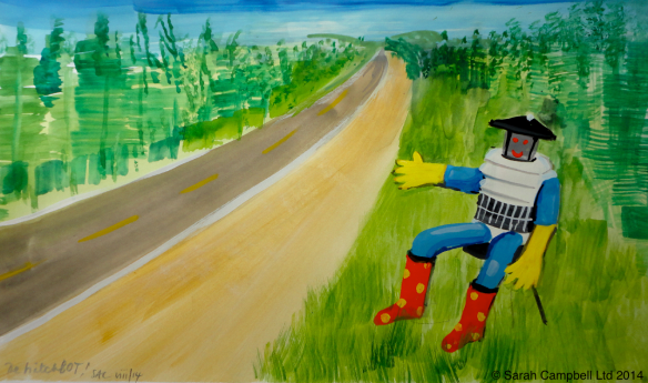 hitchBOT painting