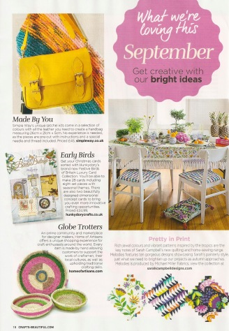 Craft Beautiful SEPT MMF News feature