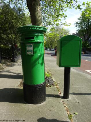 green irish post box