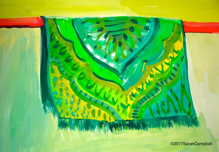 green dream tapestry