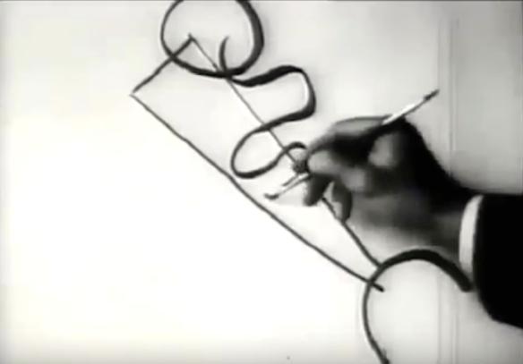 Kandinsky drawing, video