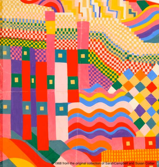 Bauhaus scarf artwork