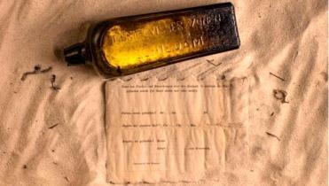 germanmessage in bottle, Australia