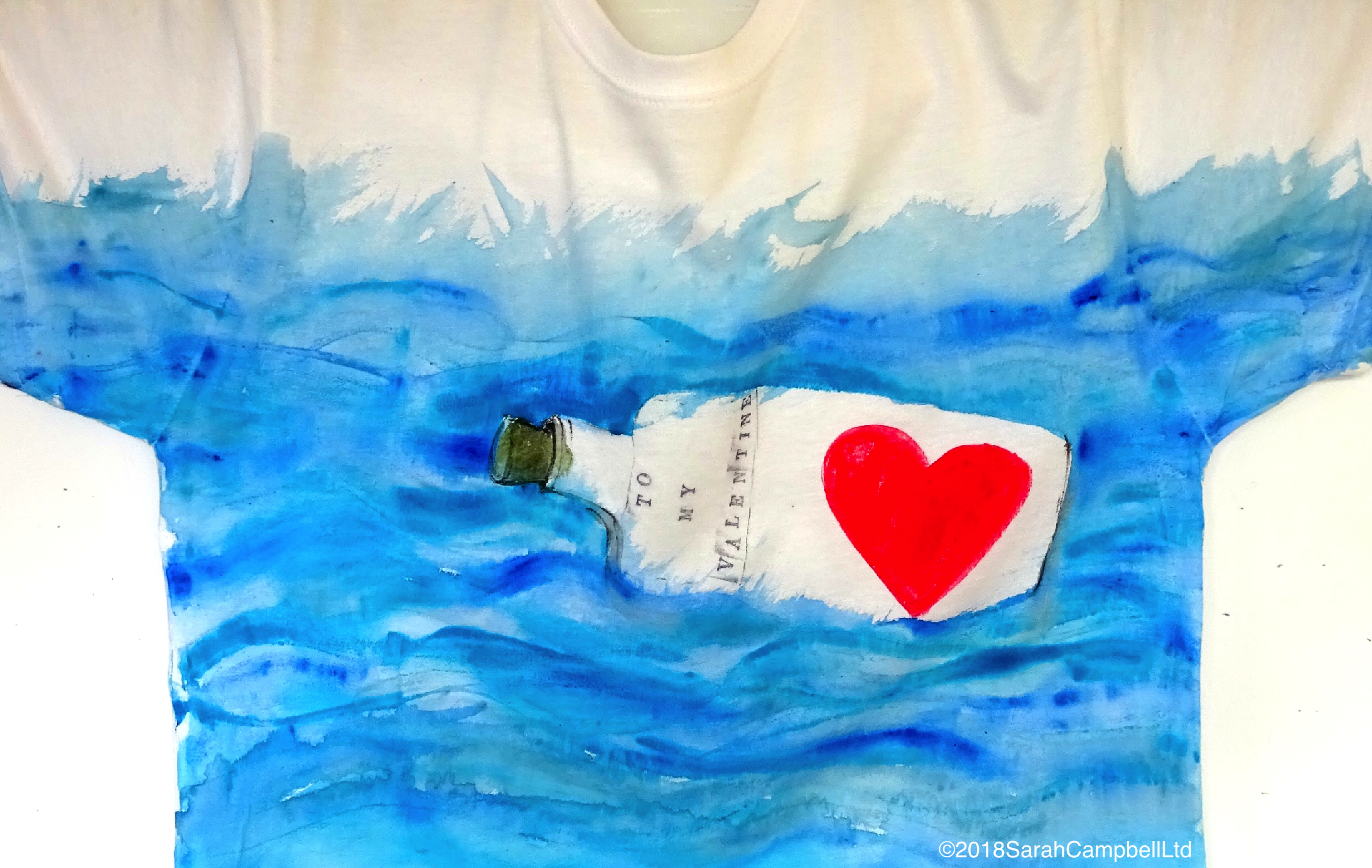 Tshirt message in a bottle