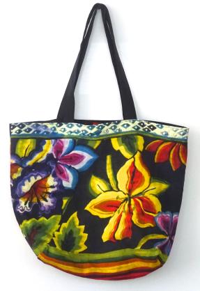 Frida stripe linen bag