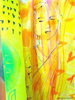 marigold sari girl