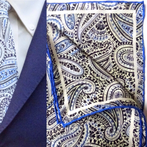 paisley hankie and tie