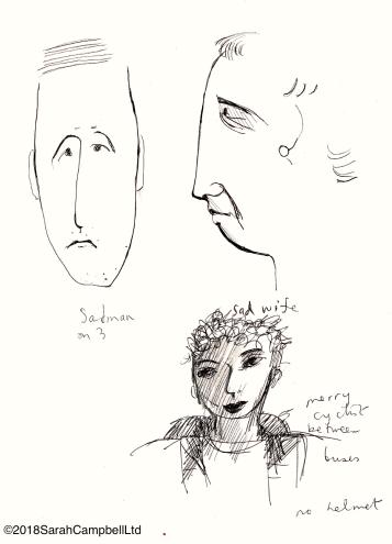 sad man drawing
